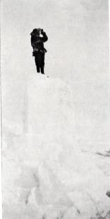 Leffingwell standing on ice
