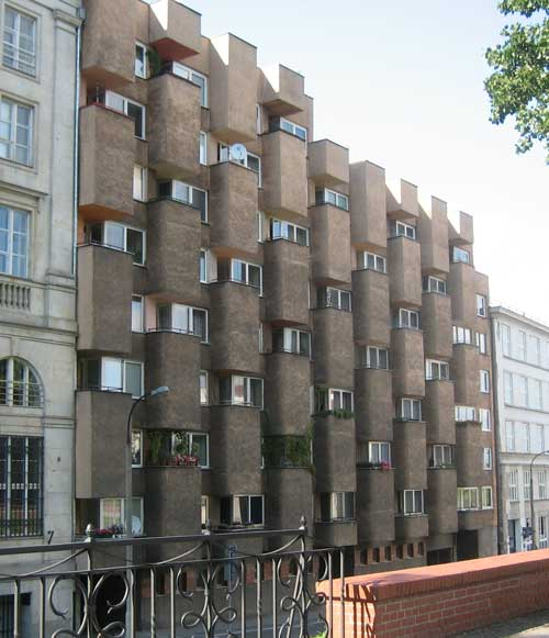 Funky soviet-era apartments on Karowa, Warsaw
